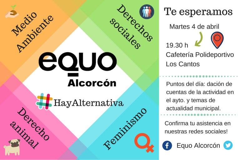 EQUO Alcorcón - Asamblea mensual @ Polideportivo Los Cantos | Alcorcón | Comunidad de Madrid | España
