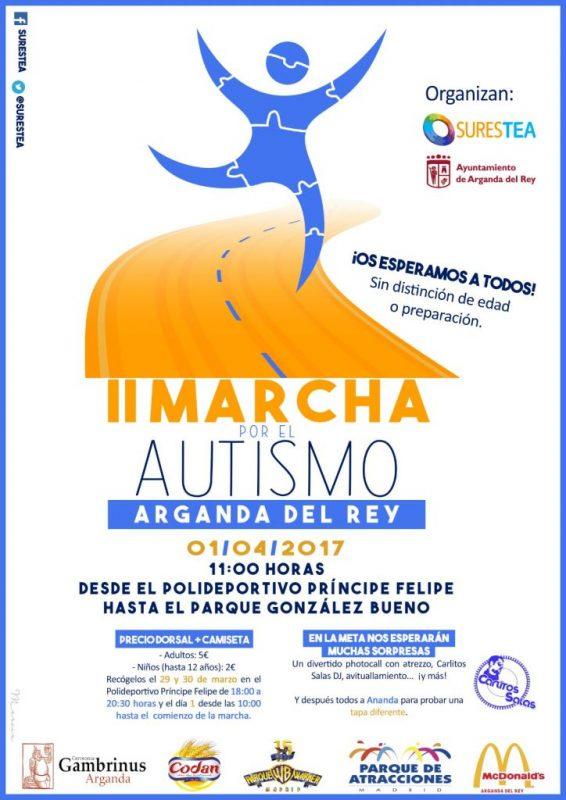 Arganda - II Marcha por el Autismo @ Polideportivo Príncipe Felipe | Arganda del Rey | Comunidad de Madrid | España