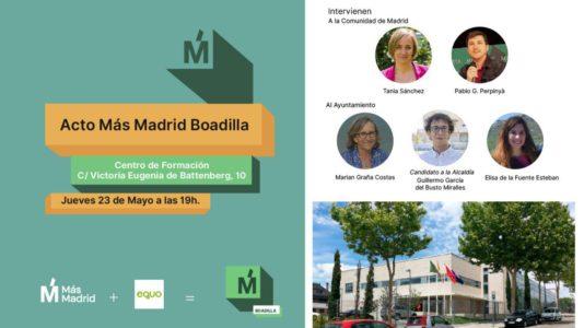 Acto Más Madrid Boadilla @ Centro de Formación
