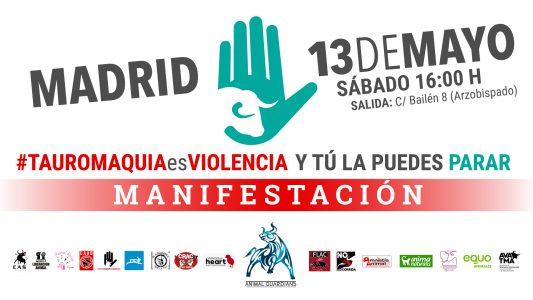 Manifestación contra la tauromaquia @ C/ Bailén 8 | Madrid | Comunidad de Madrid | España