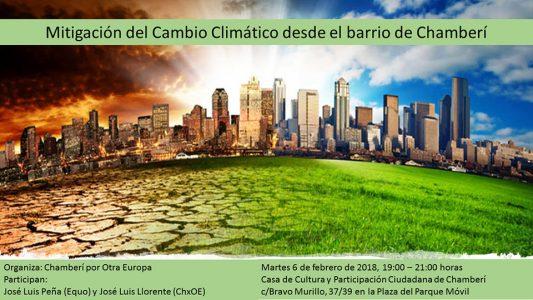 Chamberí - Charla sobre mitigación del cambio climático @ Casa de Cultura y Participación Ciudadana de Chamberí | Madrid | Comunidad de Madrid | España