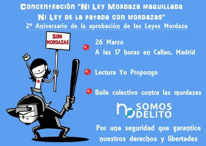 Concentración contra la Ley Mordaza @ Callao | Madrid | Comunidad de Madrid | España