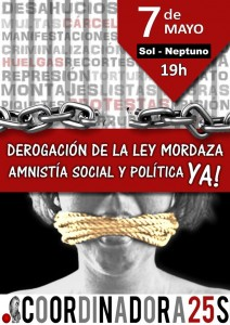 Manifestación contra la Ley Mordaza @ De Sol a Neptuno | Madrid | Comunidad de Madrid | España