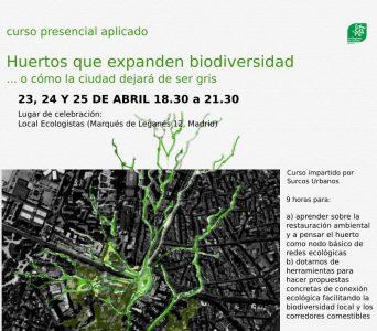 Curso presencial aplicado Huertos que expanden biodiversidad @ Sede Ecologistas en Acción
