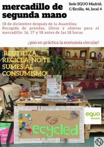 Mercadillo de segunda mano @ Sede EQUO Madrid