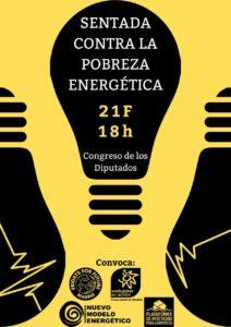 Sentada contra la pobreza energética @ Congres de los Diputados