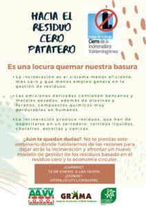 Webinario sobre incineración de residuos en la Comunidad de Madrid @ Online