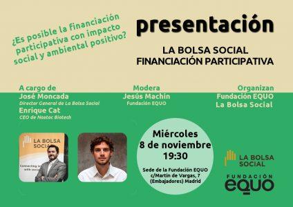 Fundación EQUO - Presentación Bolsa Social @ Fundación EQUO | Madrid | Comunidad de Madrid | España