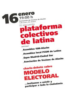 IV Encuentro Plataforma Colectivos Latina
