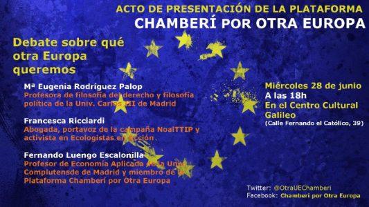 """Chamberí - Debate """"¿Qué otra Europa queremos?"""" @ Centro Cultural Galileo   Madrid   Comunidad de Madrid   España"""