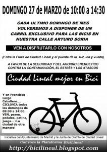 ciudad lineal -bicicletada