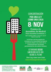 Concentración por el derecho a la vivienda @ Asamblea de Madrid | Madrid | Comunidad de Madrid | España