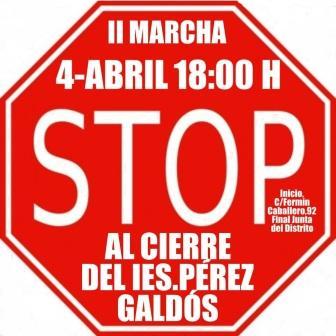 Fuencarral - Manifestación contra el cierre del IES Pérez Galdós @ IES Pérez Galdós | Madrid | Comunidad de Madrid | España