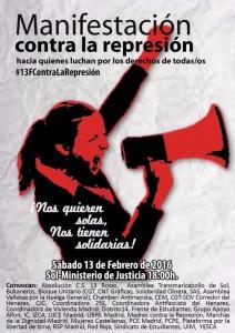 Manifestación contra la represión @ Puerta del Sol | Madrid | Comunidad de Madrid | España