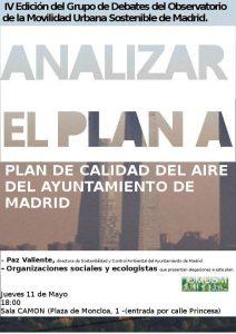 Debate sobre el Plan A de Calidad del Aire del Ayuntamiento de Madrid