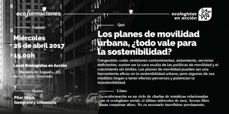Ecoformación sobre sostenibilidad y movilidad urbana @ Sede Ecologistas en Acción | Madrid | Comunidad de Madrid | España