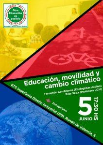 """Asamblea monográfica """"Educación, movilidad y cambio climático"""" @ Escuela de Ingeniería Industrial y Diseño   Madrid   Comunidad de Madrid   España"""