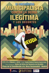 Encuentro municipalista contra la deuda ilegítima y los recortes @ Centro Cultural Federico García Lorca | Rivas-Vaciamadrid | Comunidad de Madrid | España