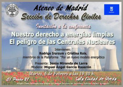 Conferencia sobre derecho a la energía limpia @ Ateneo de Madrid | Madrid | Comunidad de Madrid | España