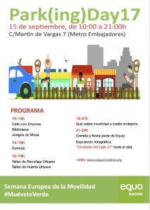 EQUO Park(ing) Day 2017 @ Sede EQUO | Madrid | Comunidad de Madrid | España