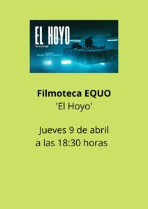 Filmoteca EQUO: 'El hoyo' @ Desde tu casa