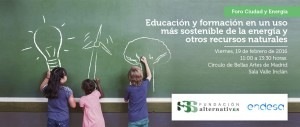 Seminario sobre educación y formación para la sostenibilidad @ Círculo de Bellas Artes | Madrid | Comunidad de Madrid | España