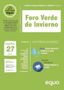 EQUO - I Foro Verde de Invierno @ Sede EQUO | Madrid | Comunidad de Madrid | España