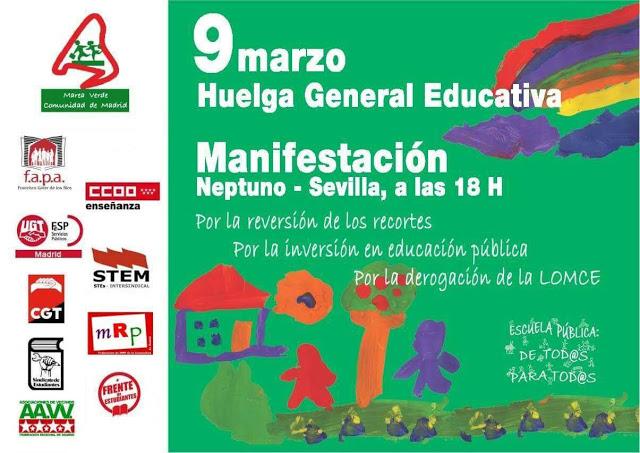 Manifestación Huelga General de Educación @ De Neptuno a Sevilla | Madrid | Comunidad de Madrid | España