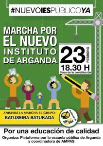 Arganda - Marcha por el nuevo instituto @ Plaza de la Constitución  | Arganda del Rey | Comunidad de Madrid | España