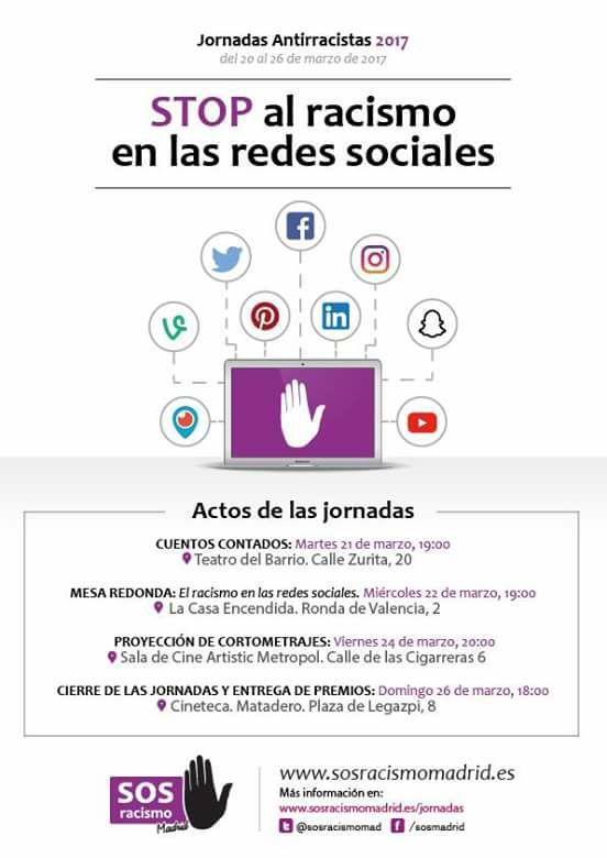 Jornadas Antirracistas 2017 @ Varios espacios | Madrid | Comunidad de Madrid | España