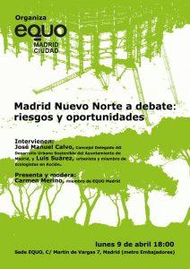 """EQUO Madrid Ciudad - """"Madrid Nuevo Norte a debate: riesgos y oportunidades"""" @ Sede EQUO   Madrid   Comunidad de Madrid   España"""