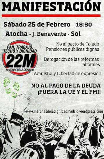 Manifestación Marchas de la Dignidad @ De Atocha a Sol | Madrid | Comunidad de Madrid | España