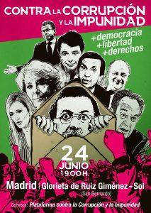 Manifestación contra la corrupción @ De San Bernardo a Sol | Madrid | Comunidad de Madrid | España