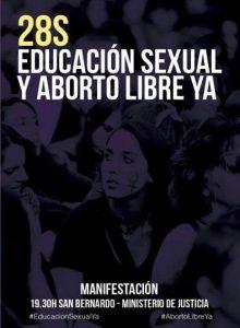 Manifestación por la educación sexual y el aborto libre @ San Bernardo | Madrid | Comunidad de Madrid | España