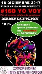 Manifestación en defensa de las pensiones @ De Atocha a Pza. Jacinto Benavente | Madrid | Comunidad de Madrid | España