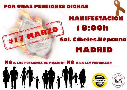 Manifestación por unas pensiones dignas @ Sol - Cibeles - Neptuno | Madrid | Comunidad de Madrid | España