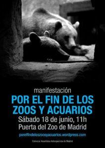 manifestación por el fin de los zoos y acuarios