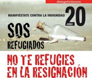 manifestacion dia mundial del refugiado