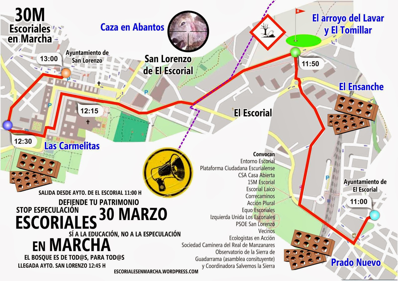 Mapa Marcha 30M