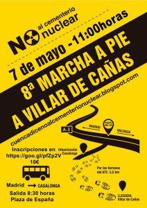 Villar de Cañas - 8ª Marcha a pie contra el ATC @ Villar de Cañas | Villares del Saz | Castilla-La Mancha | España