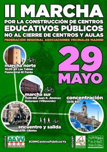 II Marcha por la construcción de centros educativos públicos @ Cibeles | Madrid | Comunidad de Madrid | España