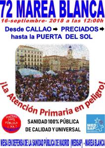 72 Marea Blanca @ Desde Callao hasta la Puerta del Sol | Madrid | Comunidad de Madrid | España