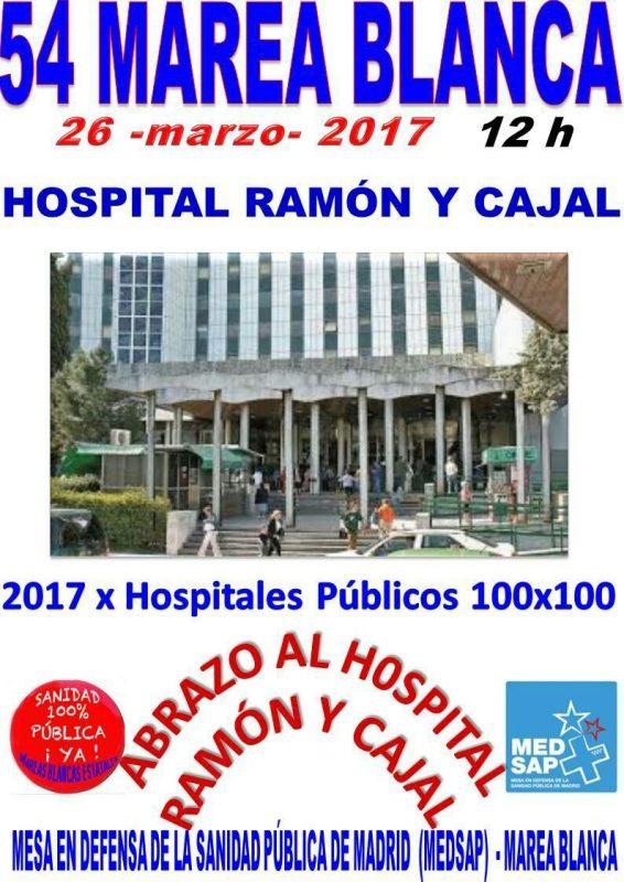 Concentración Marea Blanca @ Hospital Ramón y Cajal | Madrid | Comunidad de Madrid | España