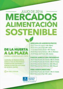 Mercados de Alimentación Sostenible @ Distrito Centro | Madrid | Comunidad de Madrid | España