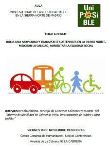 La Cabrera - Debate sobre movilidad sostenible en la Sierra Norte @ Centro Comarcal de Humanidades   La Cabrera   Comunidad de Madrid   España