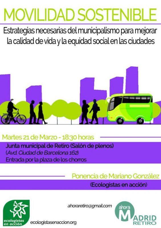 Retiro - Acto sobre movilidad sostenible @ JMD Retiro | Madrid | Comunidad de Madrid | España