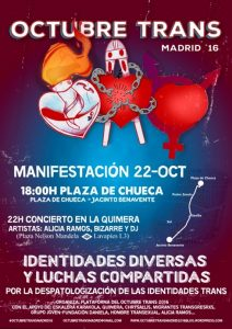 "Manifestación ""Octubre Trans 2016"" @ Pza. Chueca | Madrid | Comunidad de Madrid | España"