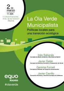 La Ola verde municipalista @ Centro Cultural Buenavista