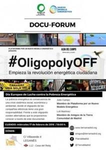 Leganés - Docufórum #OligopolyOFF @ La Libre de Barrio | Leganés | Comunidad de Madrid | España