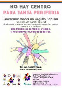 Asamblea abierta para un Orgullo Popular @ La Villana de Vallekas | Madrid | Comunidad de Madrid | España